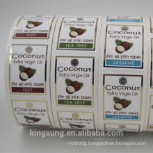 hot stamp gold color printing sticker paper for cosmetic