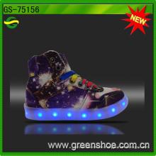 Guter Verkauf Mädchen MID Cut LED Licht Schuhe kostenpflichtig