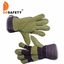 China Supplier Pig Split Leather Work Impact Gloves Bulk to Protect with Ce Guantes Seguridad Industrial