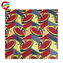 La cera africana pura del poliéster imprime la tela tejida vestidos para la venta