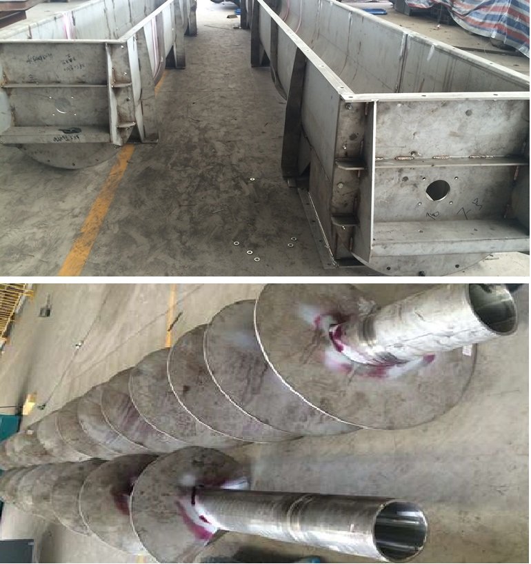Infeed And Outfeed Screw Conveyor Manufacturing