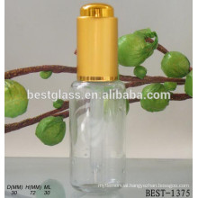 30ml chinese wholesale gold cap glass pipette refill open perfume oil bottle