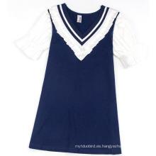 Vestido de bebé niña azul marino en ropa de moda con ropa de niños