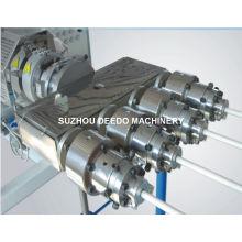 Chaîne de production en plastique de quatre tuyaux de PVC