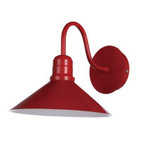 Hot Red Shade Steel Wall Lights in Modern (MB6136-R)