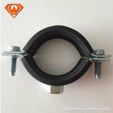 Abraçadeira em aço galvanizado Abraçadeira em flange de tubo