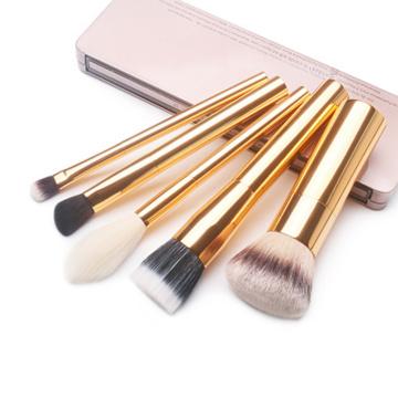 5pcs vegan hair metal handle cosmetic tools brushes