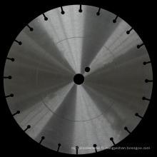 Disque d'acier à lames de scie diamantée avec anneau de contrainte