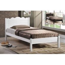 Cama de madera individual, muebles de dormitorio
