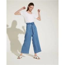 Горячие продажи женские модные синие джинсовые брюки