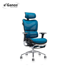 Blue gaming chair office mesh game chair with footrest guangdong office FURNITURE
