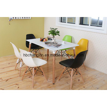 2016 Hot Selling Modern Design Wooden Leg Table