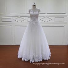 Laço de comprimento francês Lace A linha de vestidos de noiva