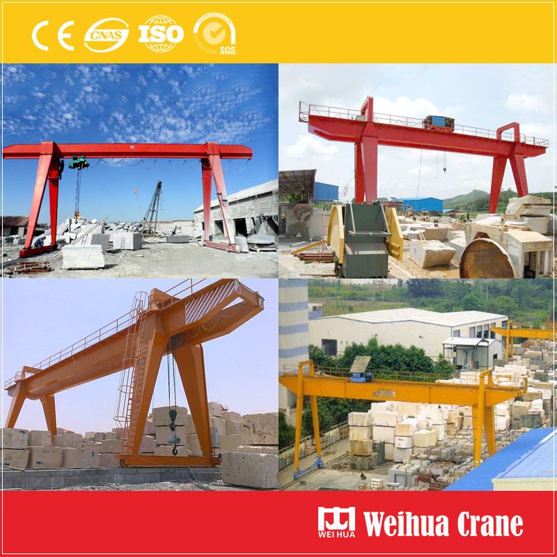 Gantry Crane In Stone Factory