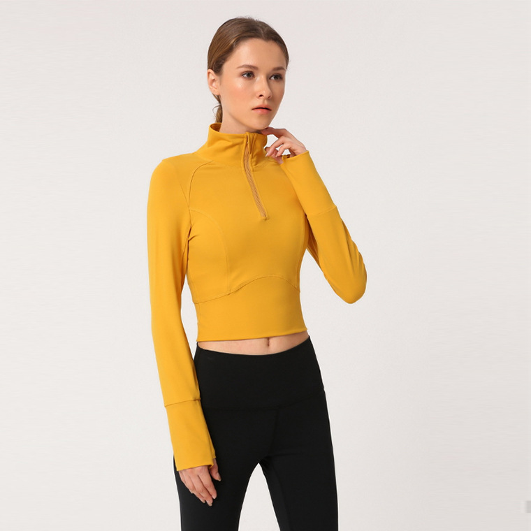 long sleeve yoga crop top hoodie (6)