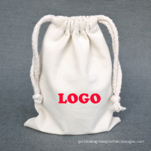 Customized Designs Customized Color Drawstring Pouch organic cotton plain recycled small drawstring bag with logo