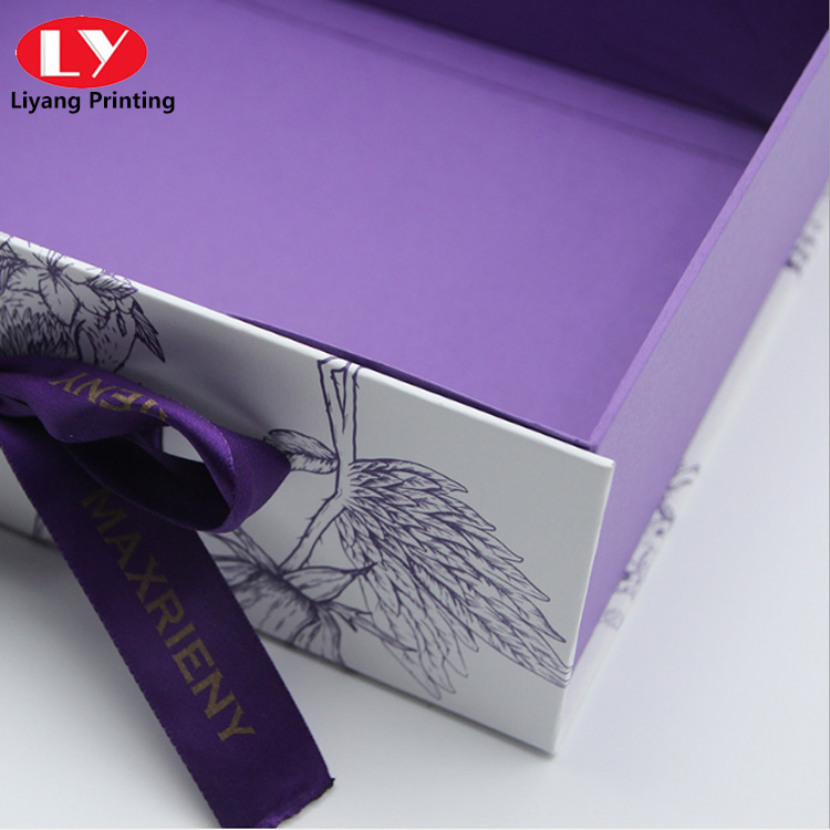 Skincare packaging box with custom
