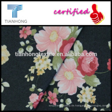 Denim look Polyester Baumwolle Elasthan gedruckte Blumen Muster Stretch-Stoff für Damenhosen