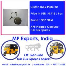 Ape Tuk Tuk Spares Clutch Thesi Plate Kit