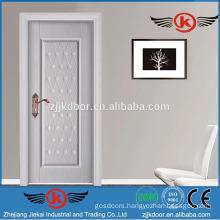 JK-SW9661D white modern safety steel wood doors design