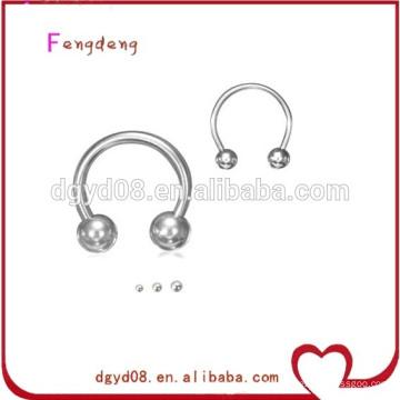 Fabricante de anéis de aço inoxidável piercing no nariz