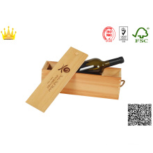Wooden Wine Box with Hot-Stamping / Folding Wine Box with Glass Cup