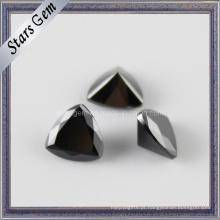 Preto gemstone sintético forma brilhante