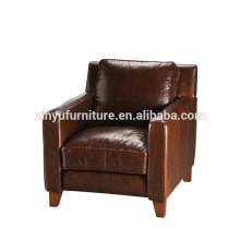 Full-grain leather upper sofa design in brown XYN992
