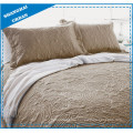 Solid Taupe Totem Quilted Polyester Coverlet Set