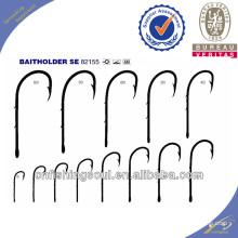 FSH030 82155 ganchos de pesca de aço carbono alto ganchos de pesca baitholder