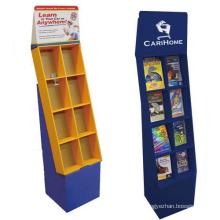 8 celdas corrugated suelo Display Stands para libros