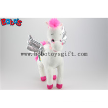 36cm New Best Selling Plush Stuffed White Angel Horse Soft Wild Animal Bos1186