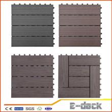 300 * 300 * 22mm WPC DIY Decking Azulejo impermeable Interlocking Decking compuesto