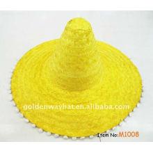 Bonito chapéu de palha mexicano de chapéu de palha sombrero
