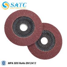 Melhor preço de 100x16mm Fibra de apoio disco de alumínio flap disco para polimento
