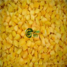 Dés surgelés d'abricot IQF de haute qualité avec ISO22000