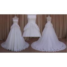 mm015 высокое качество милая тюль кружева свадебное платье 2016