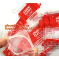 resealable zip lock pill bag ziplock reclosable pouch glossy stand upziplock poly bags for cosmetic packaging