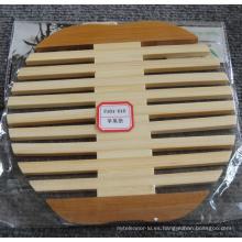 (BC-M1007) Manta de bambú natural hecha a mano de la forma de Apple del aislamiento del calor