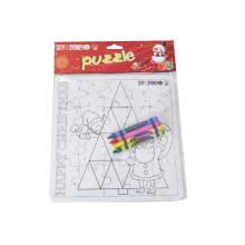 Rompecabezas de colores para niños DIY con crayón
