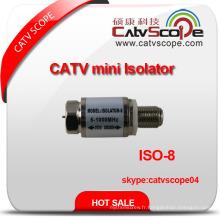 5-1000MHz CATV High Voltage Ground Mini Isolator / DC Block