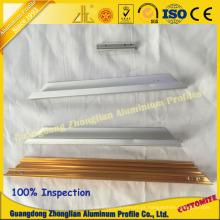 Perfil de alumínio com usinagem CNC