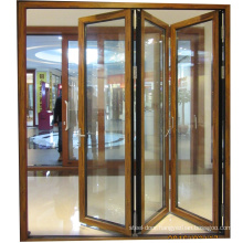 2.0mm thickness powder coated safety glass bi-folding doors