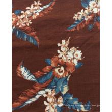 Flor de lino 100% imprimió la tela para la ropa / Textiles del hogar