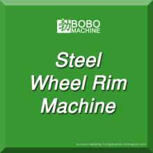 Steel wheel rim manufacturing machine for tubeless car wheel and tractor wheel making.