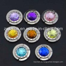 Suspensión del bolso de alta calidad Zinc aleación con diamantes de imitación coloridos grandes para los regalos de recuerdo
