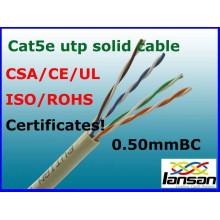 hot sale fluke test 4 pair cat5e utp lan cable in factory price