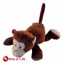Lying plush magnet monkey