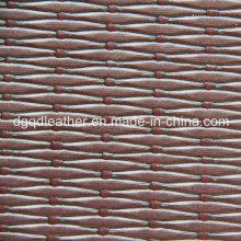 Cuir gaufré de demi-PU de conception gaufrée (QDL-52083)