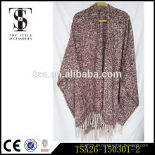 Bufandas de gama alta del estilo indio al por mayor bufanda gruesa de la manta del hilado del lazo poncho de la alta calidad